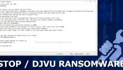 STOP Djvu Ransomware Encryption and Decryption